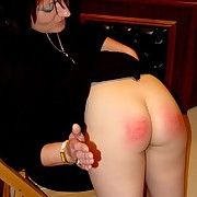 Dissolute puss has callous spanks on her ass