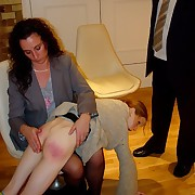 Gorgeous skirt gets her rump spanked