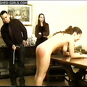 Dirty bitches caned heavy at bottom their exposed bottoms