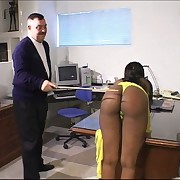 Black office girl lower be imparted to murder cane