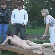 Tights ripped off for anal inspection and severe excommunication - young lovely in tears