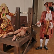 Galumph be required of a strong caning on will not hear of bare bottom