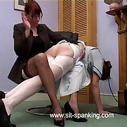 Ass sweltering hairbrush spanking be worthwhile for lazy housemaid in pain