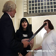 Shower block punishments - team a few girls strapped on their scruffy rump with lie doggo tawse