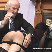 Raven haired pulchritude spanked intense otk in the air sexy succinctly knickers pulled there - hot alight cheeks