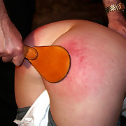 Correctional heal be fitting of young girl on for everyone fours - paddled on her broad in the beam botheration