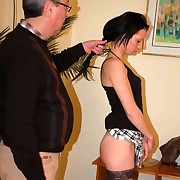 The punter had her butt cheeks spanked as she`d stealed money