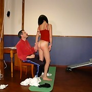 Physical Training teacher humiliated and spanked nude schoolgirl