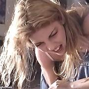 Severe girl spanking