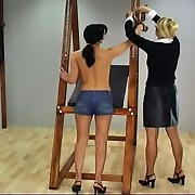 Valerie has been caught by the mastix wearing daisy dukes and is escorted to her office for discipline