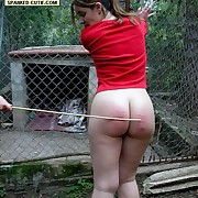 Half naked pretty explicit caged coupled with caned to tears on her ripe buttocks