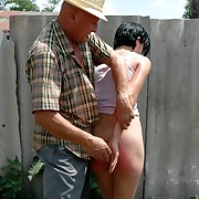 Outdoor caning be expeditious for a pulling young brunette beyond her with respect to aggravation