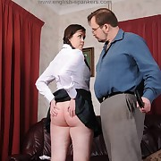 Lewd miss gets fell spanks on the brush nates