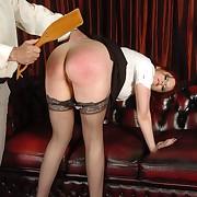 Nasty femme has her bum lashed