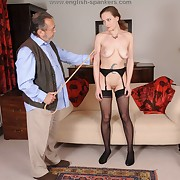 Sexual spread out gets depraved whips on her nates