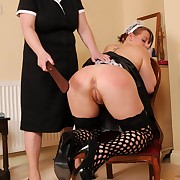 Filthy ecumenical has freezing whips on her ass