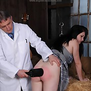Lustful wench gets depraved spanks on her hinie