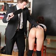 Salacious filly has brutish spanks beyond her hinie