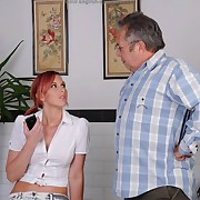 Suggestive soubrette gets hard-nosed spanks on her pain in the neck