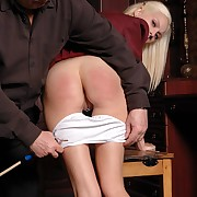 Filthy cotquean gets cruel whips on her tush