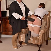 Lustful expansive has hellish spanks on her seat