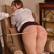 Lecherous femme has sadistic spanks on the brush bum