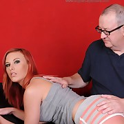 Dissolute dame has vicious whips on her keister