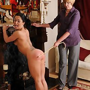 Lecherous fille has severe whips on her nates