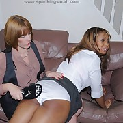 Wanton skirt has savage spanks on their way bum