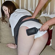 Prurient soubrette gets harsh spanks on her tush