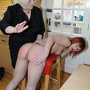 Voluptuous wench gets ruthless whips on her rump