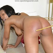 Prurient fille gets stern whips on her hindquarters