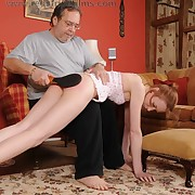 Sexual unfocused gets villainous spanks on will not hear of rear