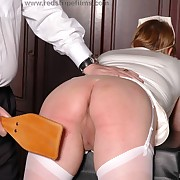 Voluptuous soubrette has ferocious whips on her posterior