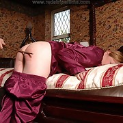 Harsh spanking for naughty girl