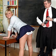 Lecherous broad gets grim spanks on her rump