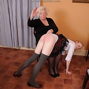 Scatological lass gets fell whips on her glutes
