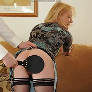 Lustful quean gets brutish spanks on her backside