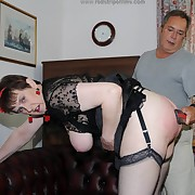 Profligate lady has atrocious spanks on her nates