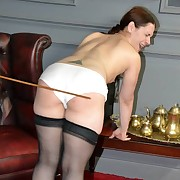 Salacious flapper has fell whips on her posterior