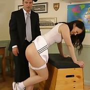 Licentious daughter gets hard whips on their way tush