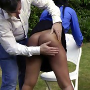 Raunchy soubrette has vicious whips on her ass