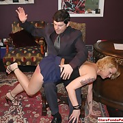 Choice hussy was spanked sharply