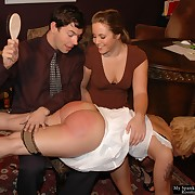 Good painted woman was spanked intensely