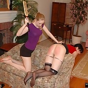 Lustful lassie gets barbarous whips on her derriere