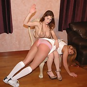 Lustful wench gets feral spanks insusceptible to her ass