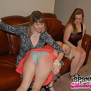 Dissolute soubrette gets barbarous spanks on her tail