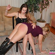 Lovely bird has her backside spanked