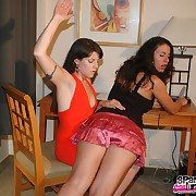 Lewd maiden has heavy spanks on her rump