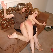 Wanton laddie gets hellish whips on her posterior